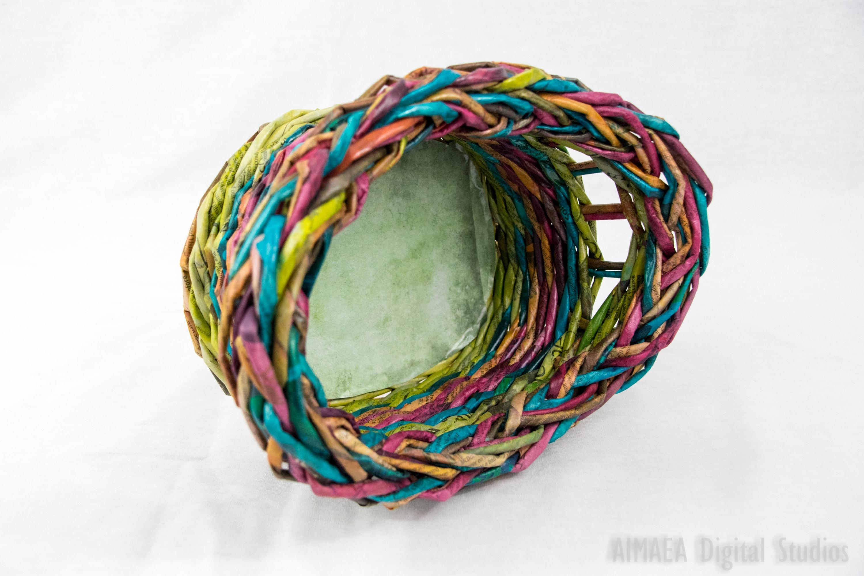 EDIGUMI Rainbow (green-pink-blue) Basket