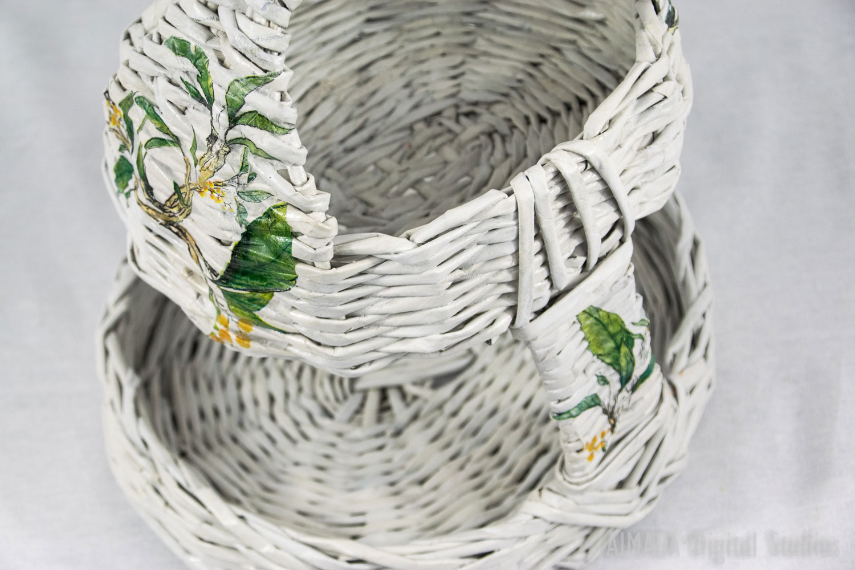 EDIGUMI Small lace brown basket